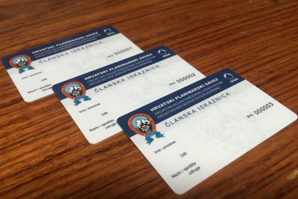 Nove članske iskaznice i markice HPS-a